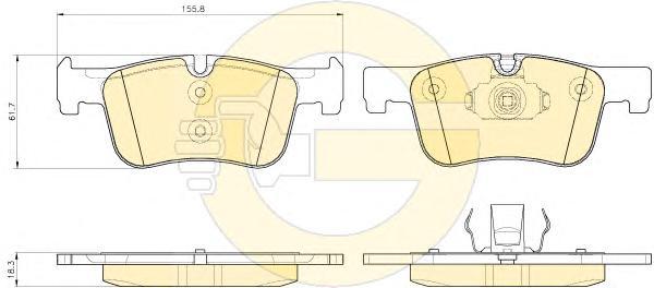 6119342 Колодки тормозные BMW 1 F20/21 /3 F30/34/35 /4 F32/36 передние