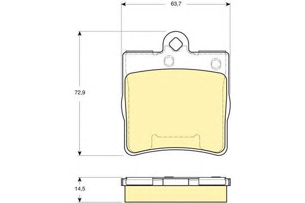 6115452 Колодки тормозные MERCEDES-BENZ W202/W203/W209/W210/R171/CHRYSLER CROSSFIRE зад.