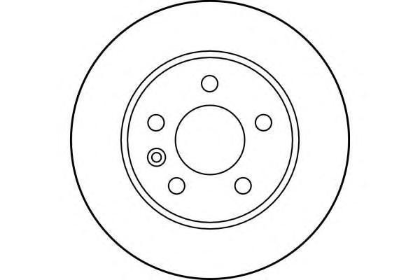 6027971 Диск тормозной MERCEDES VITO W638 108-114 2.0-2.3 передний D=276мм.