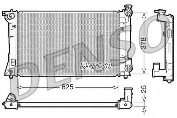 DRM50035 Радиатор TOYOTA AVENSIS 2.0/2.4 M/T 03-