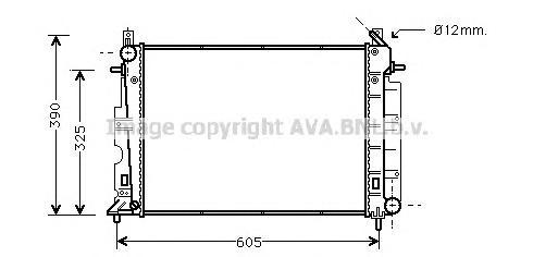 SB2026 Радиатор SAAB 9-3 2.0-2.5/2.2TD 94-