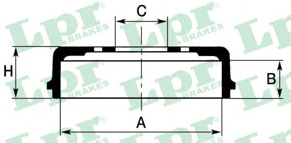 7D0267 Барабан тормозной FIAT DOBLO 01-/IDEA 04-/LINEA 07-/MAREA 96-/MULTIPLA 99-/TIPO