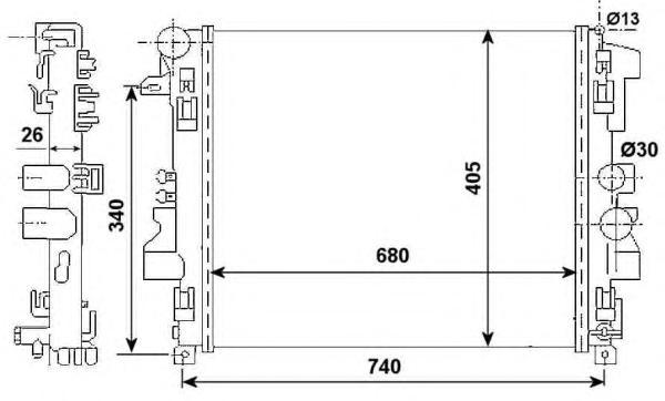 53801 Радиатор MB Viano/Vito 03-
