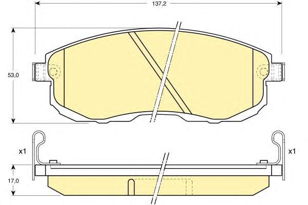 6110039 Колодки тормозные NISSAN JUKE/MAXIMA/TEANA/TIIDA/SUZUKI SX4 перед. с инд.износа
