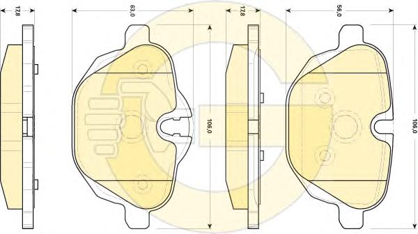 6118404 Колодки тормозные BMW 5 F10/F11/X3 F25/Z4 E89 2.0-3.0 10- задние