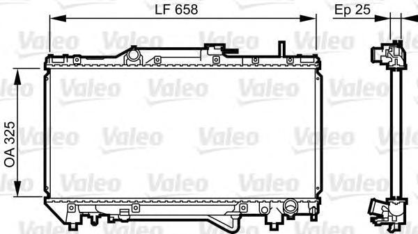 731682 Радиатор двигателя TOYOTA CarinaE/Corona/Caldina 2.0 mot.3SFE [A] 92-
