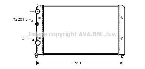 VWA2122 Радиатор VAG PASSAT 1.6-2.0 90-97
