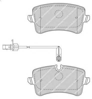 FDB4410 Колодки тормозные AUDI A6 11-/A7 10- задние с датч.