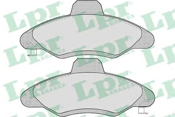 05P717 Колодки тормозные FORD ESCORT 90-00 передние