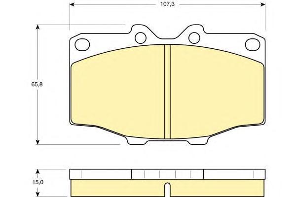6103529 Колодки тормозные TOYOTA LAND CRUISER 2.4-4.2 75-93 передние