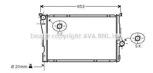 BWA2278 Радиатор системы охлаждения BMW: 3 (E46) 316 i/318 d/318 i/320 d/320 i/323 i/325 i/325 xi/328 i/330 d/330 i/330 xd/330 x