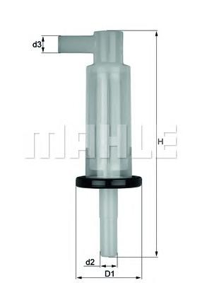 KL33OF Фильтр топливный MB W123/W124/W463/T1/SSANGYONG MUSSO/KORANDO D/TD (без упак.)