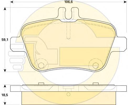 6119204 Колодки тормозные MERCEDES A(W176) 12-/B(W246) 11- задние