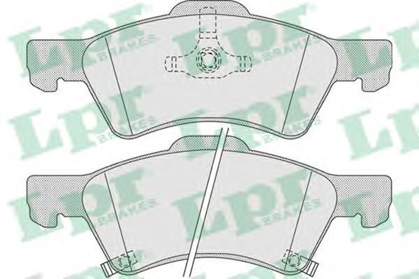 05P1006 Колодки тормозные дисковые передн CHRYSLER: VOYAGER III 00-