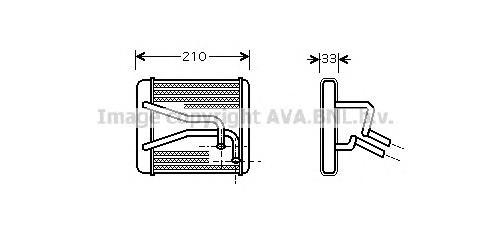 KA6049 Радиатор отопителя KIA SPECTRA/SHUMA 1.5-1.8 95-04