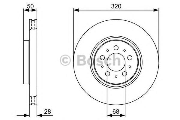 0986479321 Диск тормозной VOLVO S60 01-/S80 98-06/V70/XC70 01- передний вент.D=320мм.