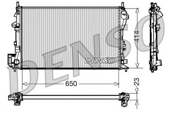 DRM20028 Радиатор системы охлаждения OPEL: SIGNUM 1.8 03 - , VECTRA C 1.6 16V/1.8/1.8 16V 02 - , VECTRA C GTS 1.6/1.8 16V 02 - ,