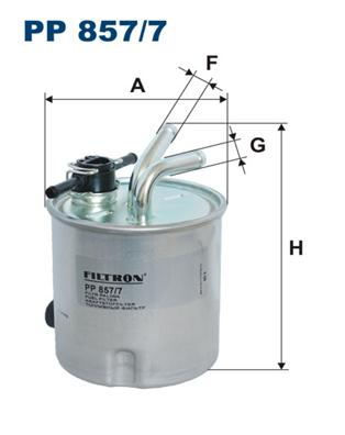 PP8577 Фильтр топливный NI Navara, Pathfinder 05-