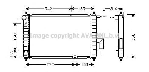 DWA2046 Радиатор системы охлаждения DAEWOO: MATIZ (KLYA) 0.8 98 -