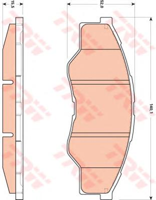 GDB3500 Колодки тормозные TOYOTA HILUX 06- передние