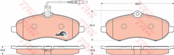 GDB1719 Колодки тормозные CITROEN JUMPY/FIAT SCUDO/PEUGEOT EXPERT 07- передние