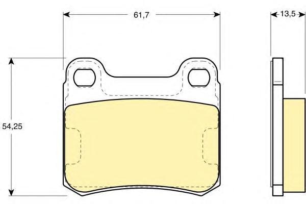 6102942 Колодки тормозные MERCEDES W201 8293 задние