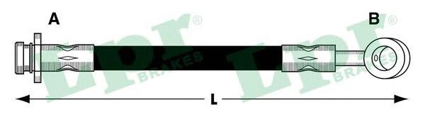 6T47853 Шланг тормозной OPEL AGILA 00-/SUBARU JUSTY 03-/SUZUKI IGNIS 03- передний