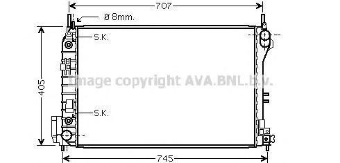 SBA2059 Радиатор OPEL VECTRA C / SAAB 9-3 2.0-3.2/2.0T/2.0D/2.2D 02-