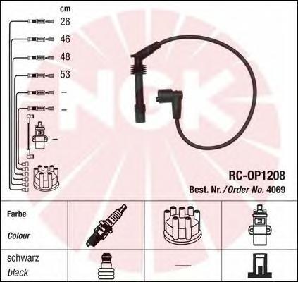 4069 Провода в/в OPEL ASTRA F/G/VECTRA B 1.4-2.0