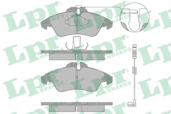 05P1304 Колодки тормозные MERCEDES SPRINTER (901-904) 95-06/VOLKSWAGEN LT 28-46 передние