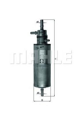 KL438 Фильтр топливный MB W163 ML320-ML500 10/00-