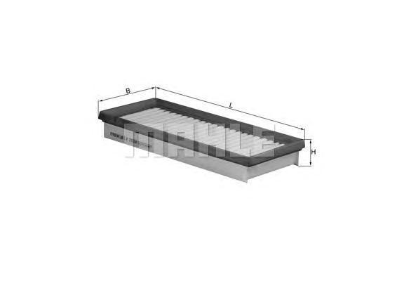 LX2034 Фильтр воздушный SMART FORTWO 1.0i 07-