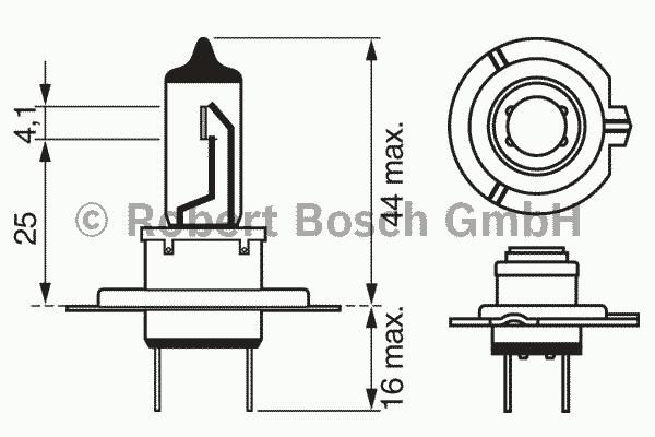 1987301078 Лампа H7 55W PX26d Plus 90 (blister 1шт.)