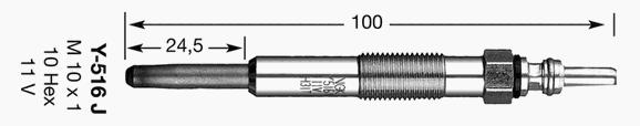 6416 Свеча накала D-Power 12 Y-516J