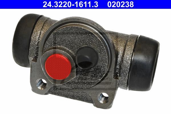 24322016113 Цилиндр тормозной рабочий PEUGEOT: 207 (WA, WC) 1.4/1.4 Bioflex/1.4 HDi 06-, 207 SW (WK) 1.4/1.4 16V/1.6 HDi 07-, 20