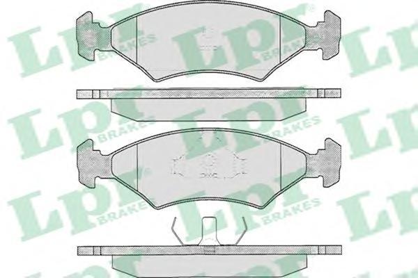 05P233 Колодки тормозные FORD ESCORT/SIERRA 80-93 передние