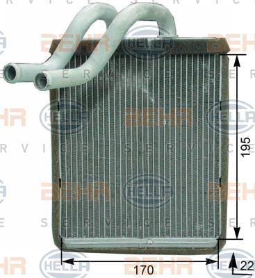 8FH351315321 Радиатор отопителя KIA SORENTO 2.4-3.5 03-