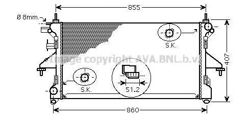 PE2309 Радиатор системы охлаждения CITROEN: JUMPER c бортовой платформой/ходовая часть 2.2 HDi 100/2.2 HDi 120/3.0 HDi 160 06 -