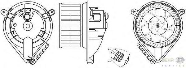 8EW351304041 Мотор отопителя MB VITO W638 2.0/2.2D-2.3D 96-03