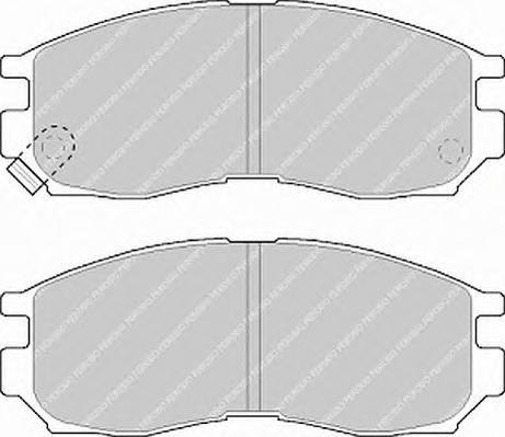 FDB764 Колодки тормозные MITSUBISHI GALANT/LANCER 1.8-2.0 88-00 передние