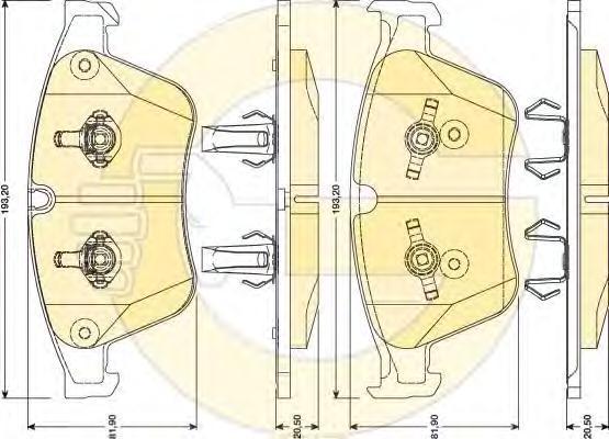 6117942 Колодки тормозные MERCEDES ML W164/R-CLASS W251 63AMG 06- передние