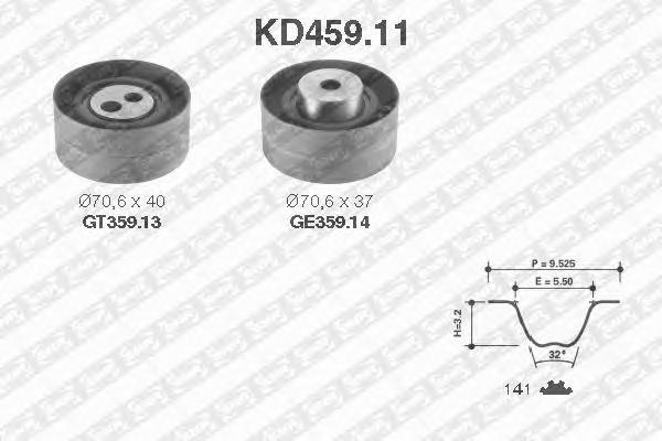 KD45911 Комплект ремня ГРМ PSA