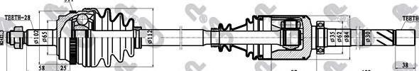 299151 Привод в сборе OPEL MOVANO/RENAULT MASTER 2.2DCI-2.5DCI 98- прав. +ABS