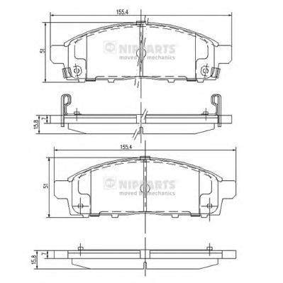 J3605050 Колодки тормозные MITSUBISHI PAJERO SPORT/MONTERO SPORT 08/L200 05 передние