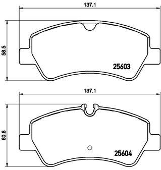 P24160 Колодки тормозные FORD TRANSIT 14-/CUSTOM 12- задние