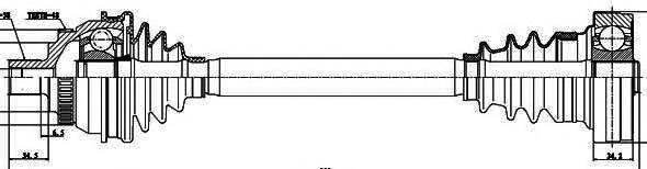 218010 Привод в сборе FORD GALAXY/VW SHARAN 2.8 95-00 лев./прав. +ABS АКПП