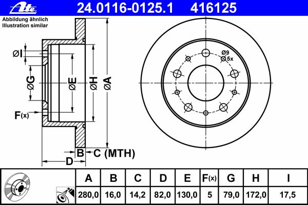 24011601251 Диск тормозной задн, CITROEN: JUMPER c бортовой платформой 2.2 HDi 100/2.2 HDi 110/2.2 HDi 120/2.2 HDi 130/2.2 HDi 1