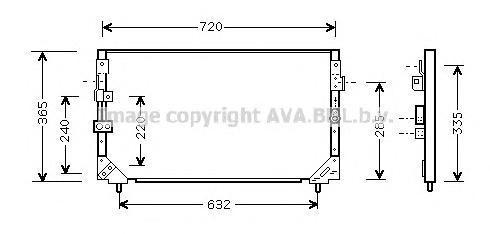 TO5006 Конденсер TOYOTA LAND CRUISER 80 4.5/4.2D/TD 90-98