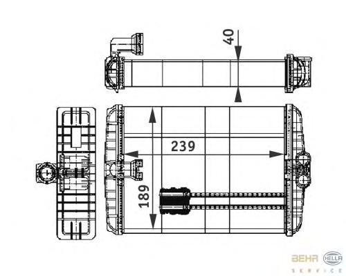 8FH351312021 Радиатор отопителя MERCEDES-BENZ: S-CLASS (W220) S 280 (220.063, 220.163)/S 320 (220.065, 220.165)/S 320 CDI (220.0