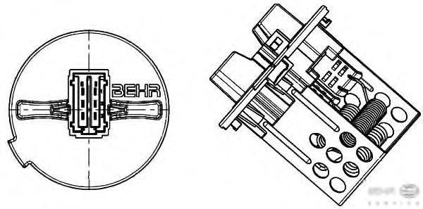 9ml351332281 Резистор вентилятора отопителя